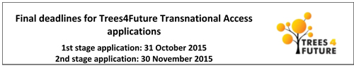 Final deadlines for T4F applications, 1st stage 31 Oct 2015, 2nd stage 30 Nov 2015